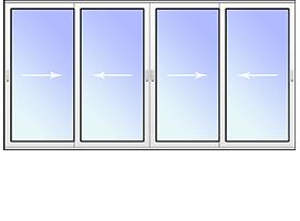 Раздвижная балконная рама