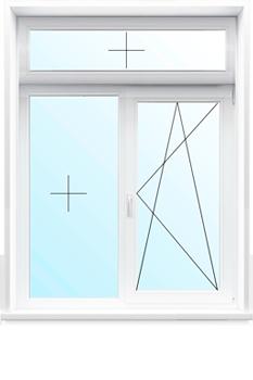 Т-образное окно